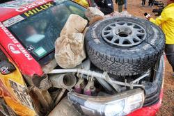 #301 Toyota Gazoo Racing, Toyota: Nasser Al-Attiyah, Matthieu Baumel na de crash