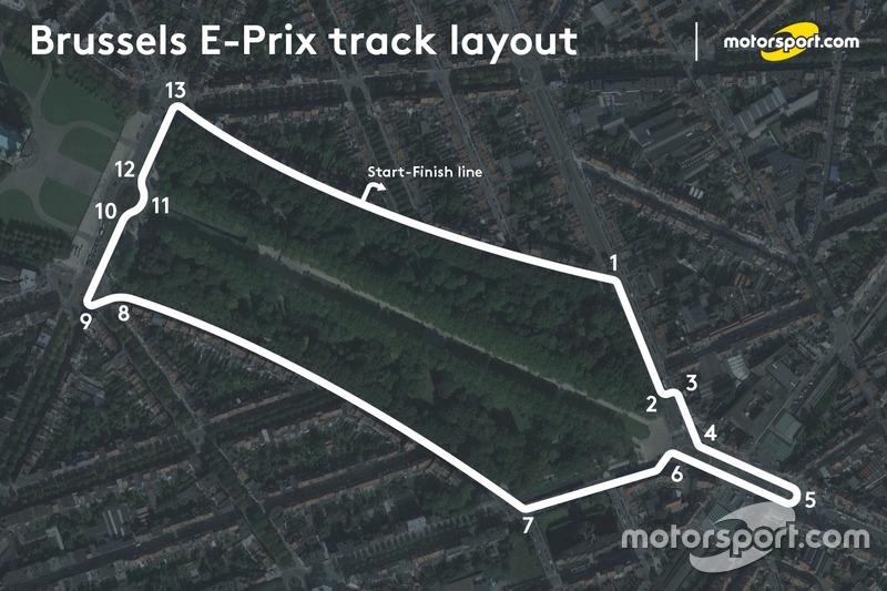 ePrix di Bruxelles, layout del circuito