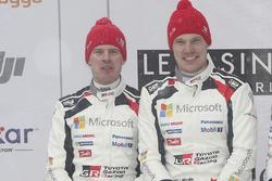 Podium: second place Jari-Matti Latvala, Miikka Anttila, Toyota Racing