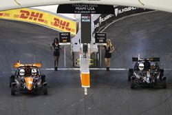 Sebastian Vettel and Kurt Busch in the Ariel Atom Cup