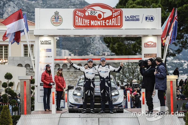 Третє місце Отт Тянак, Мартін Ярвеоя, Ford Fiesta WRC, M-Sport