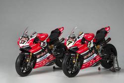 Bikes von Marco Melandri und Chaz Davies, Ducati Team