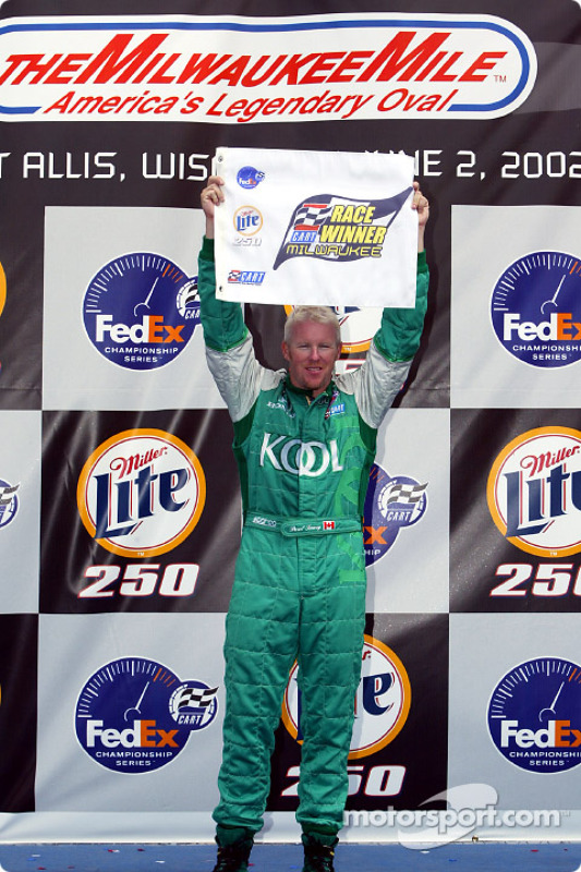 Paul Tracy in victory lane