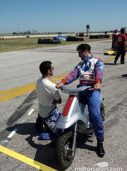 Dario Franchitti and Michael Andretti