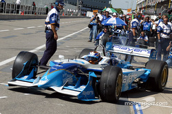 Patrick Carpentier going out on the track