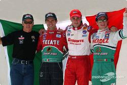 The four Mexican drivers: Adrian Fernandez, Luis Diaz, Michel Jourdain Jr. and Mario Dominguez