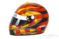 Oriol Servia's helmet