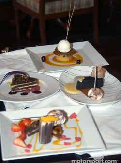 Desert tray in the Vinoy Resort resturant
