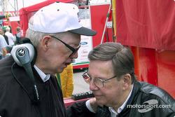 Paul Newman and Carl Haas