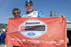 Pole winner Paul Tracy with Mario Andretti