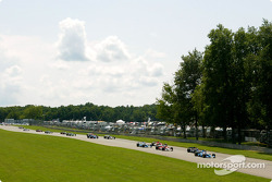 The start: Paul Tracy leads the field