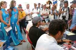 Drivers autograph session: Alex Tagliani and Michel Jourdain Jr.