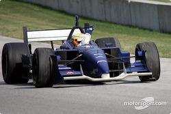 Race winner Alex Tagliani celebrates