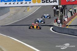 First lap: Sébastien Bourdais leads Paul Tracy