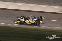 A.J. holds off Mario during the last laps