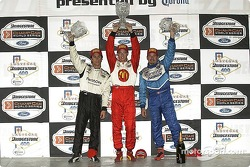 Sebastien, Bruno and Patrick on the victory podium
