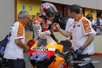 Pole winner Casey Stoner