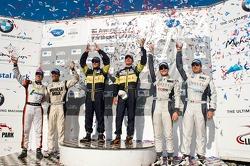 #63 Genoa Racing Oreca FLM09: Eric Lux, Elton Julian, #06 CORE Autosport Oreca FLM09: Gunnar Jeannette, Ricardo Gonzalez, #89 Intersport Racing Oreca FLM09: Kyle Marcelli, Tomy Drissi