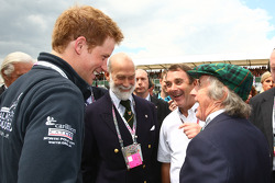 Prince Harry with Prince Michael of Kent, Nigel Mansell and Sir Jackie Stewart
