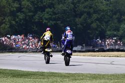 #69 Richie Morris Racing, Suzuki GSX-R600: Danny Eslick #6 Pat Clark Motorsports Graves Yamaha, Yamaha YZF-R6: Tommy Aquino