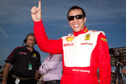 Race winner #77 Ferrari of Silicon Valley Ferrari 458 Challenge: Harry Cheung