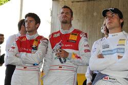 Mike Rockenfeller, Audi Sport Team Abt Sportsline Audi A4 DTM, Martin Tomczyk, Audi Sport Team Phoenix Audi A4 DTM, Bruno Spengler, Team HWA AMG Mercedes C-Klasse