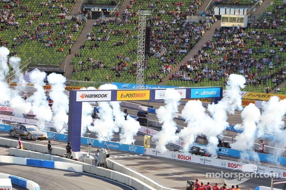 Edoardo Mortara, Audi Sport Team Rosberg, Audi A4 DTM wins ahead of Bruno Spengler, Team HWA AMG Mercedes C-Klasse