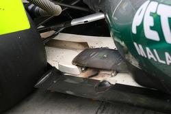 Michael Schumacher, Mercedes GP F1 Team exhaust