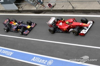 Massa lost fourth place to Vettel during his last pit stop