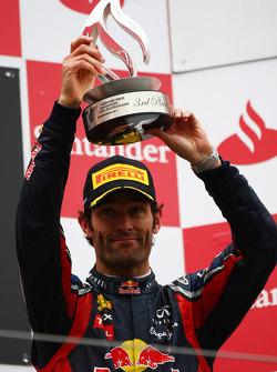 Podio: tercero Mark Webber, Red Bull Racing