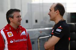 Pat Fry Ferrari technical director with Phil Prew McLaren Race Engineer