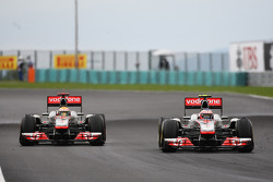 Lewis Hamilton, McLaren MP4-26; Jenson Button, McLaren MP4-26