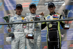 Invitation class podium: Hannes van Asseldonk, Daniel Juncadella en Marco Wittmann