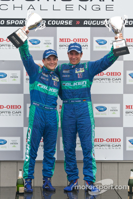 LMGT podium: class winners Wolf Henzler and Bryan Sellers