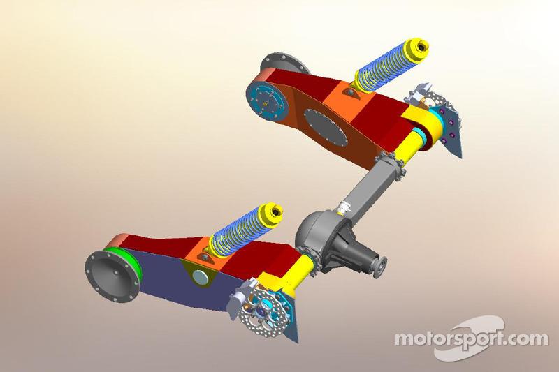 Rear drive train and suspension diagram