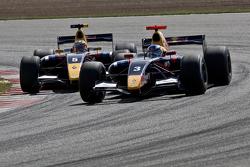 Daniel Ricciardo and Jean-Eric Vergne battle