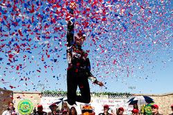 Victory lane: race winner Will Power, Team Penske celebrates