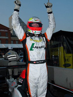 Kyle Marcelli celebrates his LMPC class win