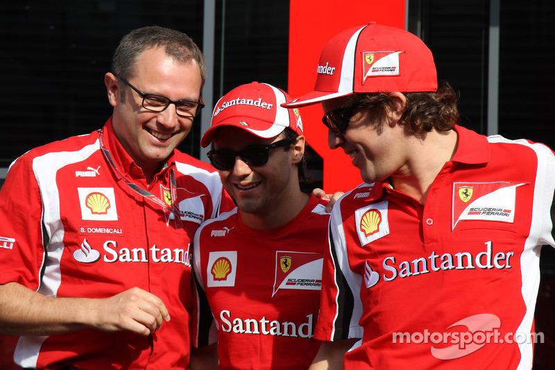 Felipe Massa, Scuderia Ferrari, Stefano Domenicali Ferrari General Director, Fernando Alonso, Scuderia Ferrari