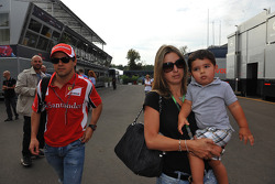 Felipe Massa, Scuderia Ferrari and Rafaela Bassi, Wife of Felipe Massa