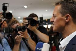 The new 2012 DTM AMG Mercedes C-Coupé with Michael Schumacher