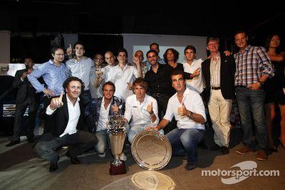 Ceremonia de premiación de la GP2 y GP3