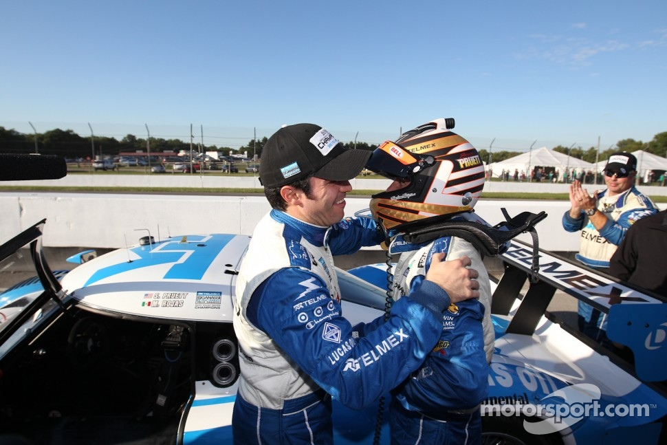 DP 2011 champions Scott Pruett and Memo Rojas celebrate