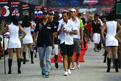 Jaime Alguersuari, Scuderia Toro Rosso and Vitantonio Liuzzi, HRT F1 Team