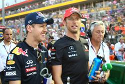 Sebastian Vettel, Red Bull Racing y Jenson Button, McLaren Mercedes