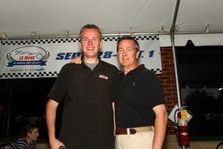 Petit Le Mans pre-race party: SPEED's John Dagny, TRG's CEO, Bob Dickinson