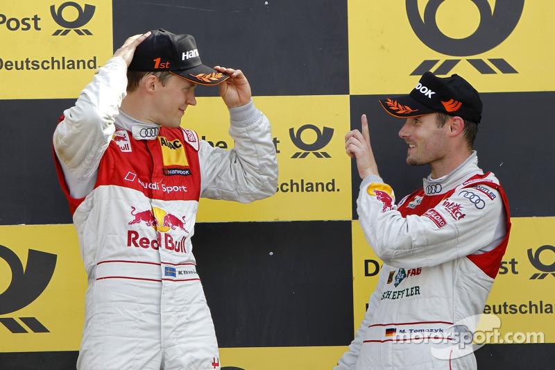 Mattias Ekström, Audi Sport Team Abt Sportsline, Audi A4 DTM 2009; Martin Tomczyk, Audi Sport Team P
