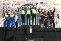 GTC podium: class winners Tim Pappas, Jeroen Bleekemolen and Sebastiaan Bleekemolen, second place Bill Sweedler, Leh Keen, Brian Wong, third place Duncan Ende, Peter Ludwig and Spencer Pumpelly