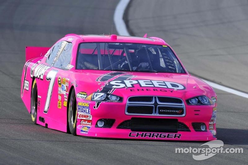 Im Oktober wird häufig in Pink gefahren: Robby Gordon in Kansas City 2011, ...