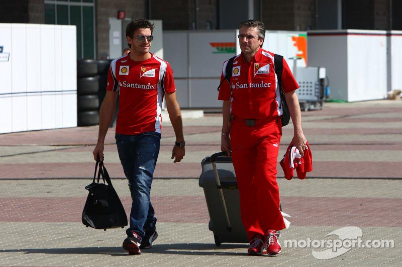 Pat Fry, Scuderia Ferrari  and Jules Bianchi, Test Driver, Scuderia Ferrari